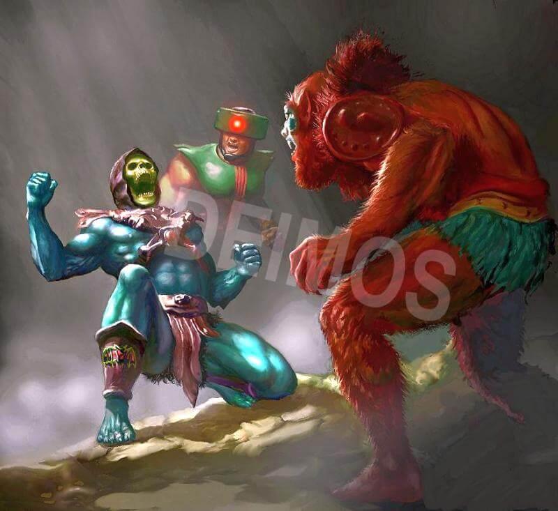 skeletor vs beast man - 880×806