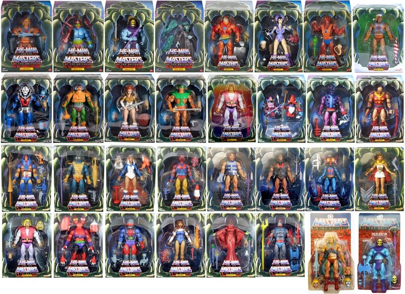 "Alle ""He-Man and the Masters of the Universe"" Filmation Figuren"